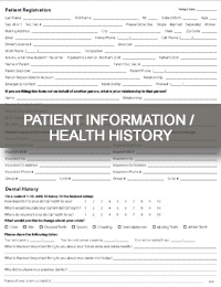 patient information and health history